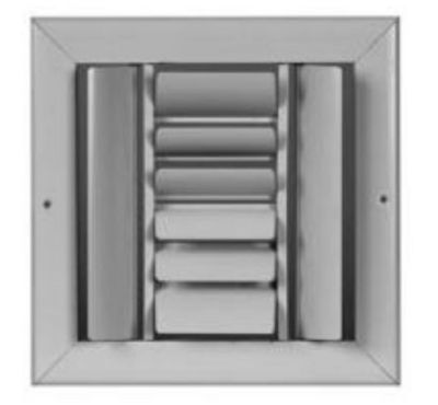 """Curved Blade One-Way Supply Ceiling Register Grille 8/"""" x 4/"""" CBHML1ME-WH 8X4"""
