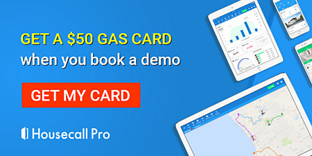 Get a $50 gas card when you demo Housecall Pro. Schedule HVAC Jobs, process payments and build trust with customers