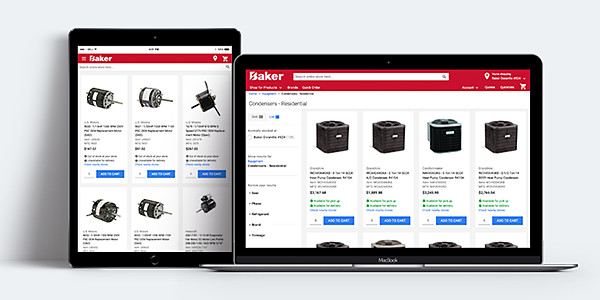 bakerdist.com ecommerce for hvac contractors