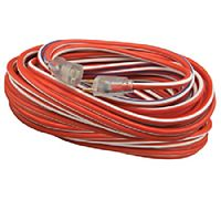 Coleman Cable - 02548USA1 - 12/3 50' SJTW Extention Cord - Red, White & Blue