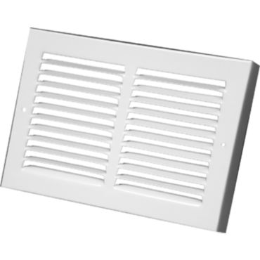 Continental Register Bg21w3006 30 X 6 White Louvered Baseboard Return Air Grille