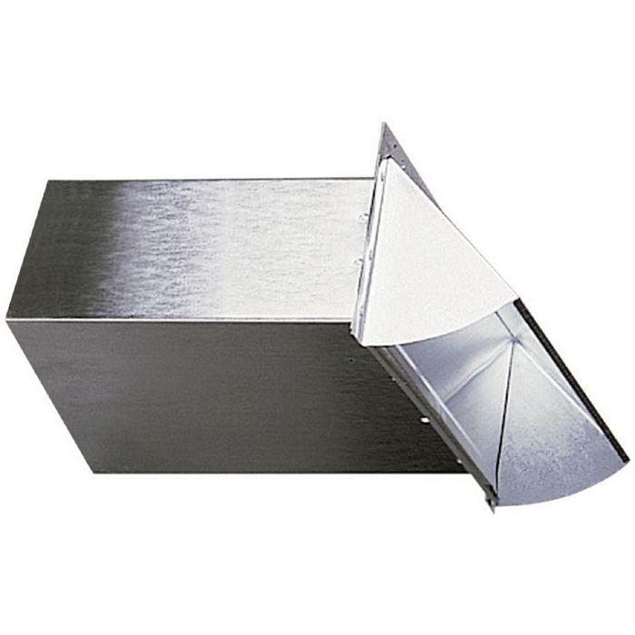 Deflecto - DAWC - Metal Wall Cap - Rectangular Aluminum with Spring Damper  3-1/4