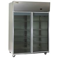 The Delfield Co. - LMR2-SLG - 2 Section Sliding Glass Door Reach In Refrigerator