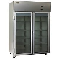 The Delfield Co. - LMR3-G - 3 Section Glass Door Reach In Refrigerator