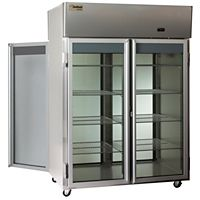The Delfield Co. - LMRPT2-G - 2 Section Glass Door Pass Thru Refrigerator