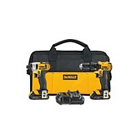 "DeWalt - DCK280C2 - 20V MAX Li-Ion Cordless Power Tool Set- 1/2"" Compact Drill/Driver & 1/4"" Impact Driver, w/2 Ion Batteries"