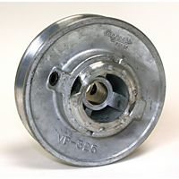 "Dial® - 6123 - 3-1/4"" x 1/2"" Variable Zinc Pulley"