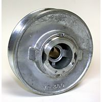 "Dial Mfg. - 6144 - 3-1/2"" x 1/2"" Variable Zinc Pulley"