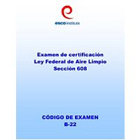 ESCO - 608STB - ESCO EPA 608 Certification Spanish Exam Test Books