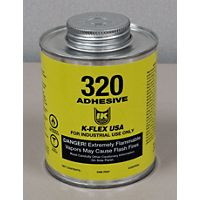 K-Flex - 800-320-PTB - 320 Contact Adhesive, Pint, Brush Top