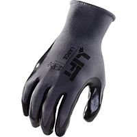Lift Safety - GPR-6KL - Palmer (Black)- Cotton-Poly Liner / Smooth Nitrile Glove