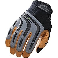 Lift Safety - GTA-9Y2L - Tacker Glove (Grey/Tan)- Genuine Leather Anti-Vibe