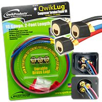 Mainstream Engineering - QT2810 - QwikLug™ Compressor Terminal Repair Kit 10AWG with 2' Leads with Nut Connection