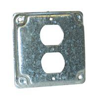 "MARS - 84966 - Steel Cover 4"" Square 1/2"" Raised Single Toggle SwitcH"