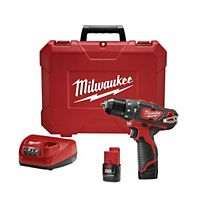 "Milwaukee - 2408-22 - M12™ 3/8"" Hammer Drill/Driver Kit"