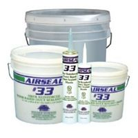 Polymer Adhesives - AS33-1(W) - Airseal #33-1 White, Fiber Reinforced Water Based Duct Sealant