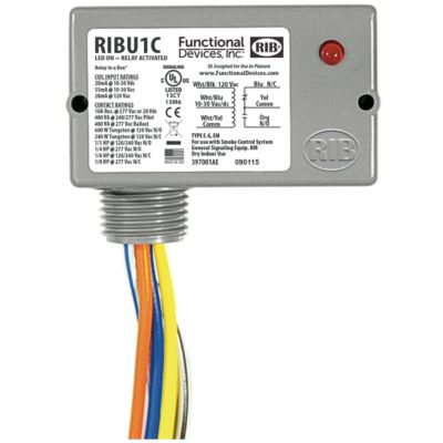 functional devices ribu1c enclosed pilot relay 10 amp spdt with 10 30 vac dc 120 vac coil RIBU1C Manual