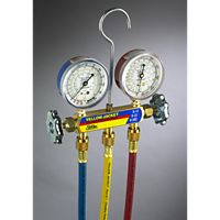 "Ritchie (Yellow Jacket) - 41315 - Manifold with 60"" PLUS II™ standard fittings 2-1/2"" Gauge PSI R-134a/404A/507"