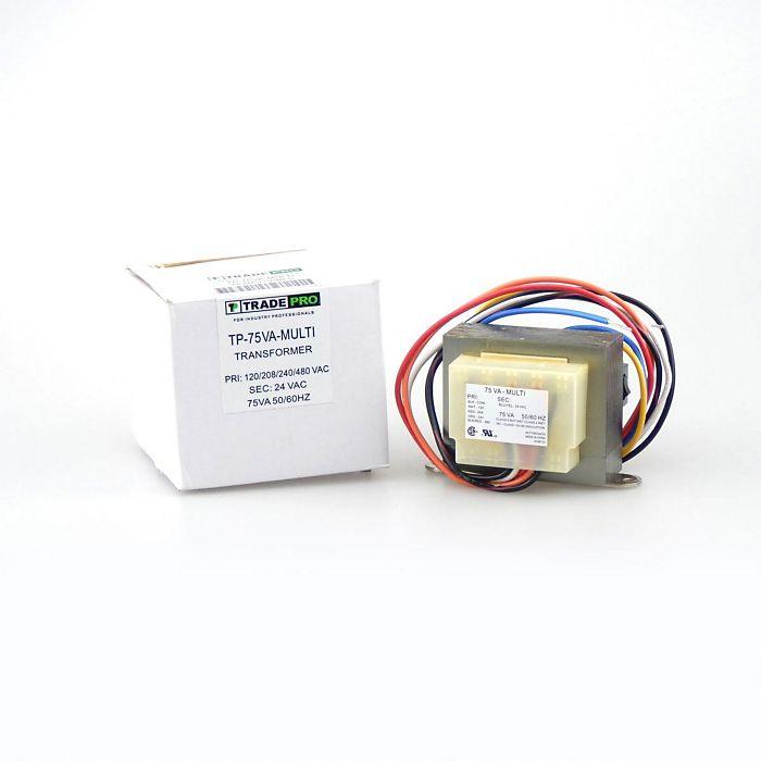 TRADEPRO® - TP-75VA-MULTI - 120-208-240-480/24V 75VA Transformer on