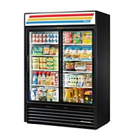 True Manufacturing - GDM-47-LD - Glass Slide Door Merchandiser Refrigerator with LED Lighting, 2 Doors