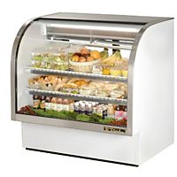 True - TCGG-48 - Curved Glass Refrigerated Deli Display Case