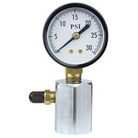 "Uniweld - TGB30 - Test Gauge, 2"" Diameter 30 PSI, 3/4"" NPT, Steel Hex"